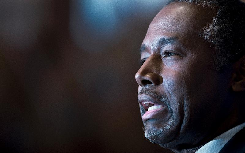 Presidential hopeful Ben Carson, pictured October 9, 2015, has overtaken rival Donald Trump in polling among likely Republican voters in the early battleground state of Iowa (AFP Photo/Paul J. Richards)