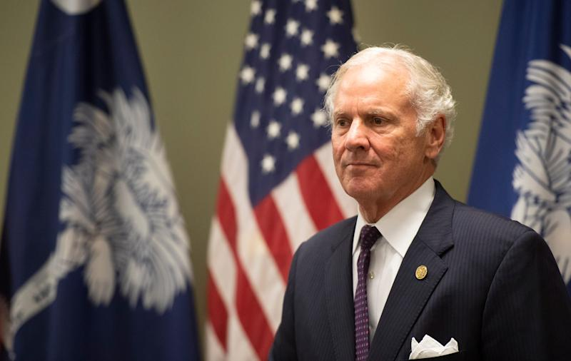 South Carolina Gov. Henry McMaster speaks during a roundtable at Hidden Treasure Christian School in Taylors, S.C., on July 18, 2019.