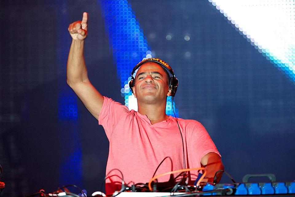 Erick Morillo performs on stage during Rock in Rio Madrid 2012.