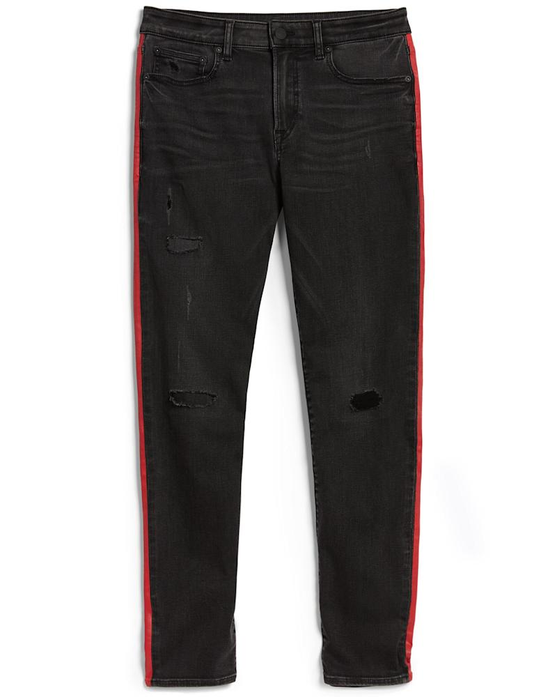 Express x VO Stripe Hyper Stretch Jeans