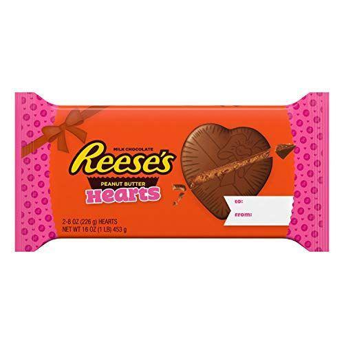 "<p><strong>Reese's</strong></p><p>amazon.com</p><p><strong>$14.11</strong></p><p><a href=""https://www.amazon.com/dp/B01LOR5AIO?tag=syn-yahoo-20&ascsubtag=%5Bartid%7C10050.g.35180060%5Bsrc%7Cyahoo-us"" rel=""nofollow noopener"" target=""_blank"" data-ylk=""slk:Shop Now"" class=""link rapid-noclick-resp"">Shop Now</a></p><p>This package includes two 8-ounce Reese's hearts. That's right: This is a whole pound of candy!</p>"