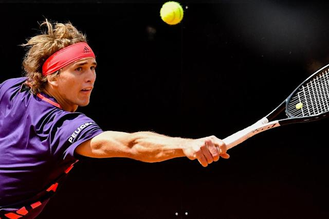 """Horrendous,"" said Germany's Alexander Zverev of his performance after his Italian Open exit (AFP Photo/Andreas SOLARO)"