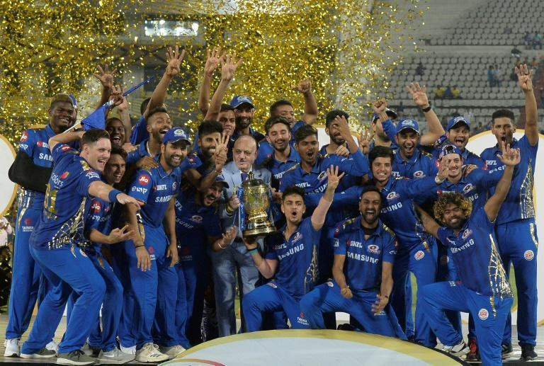 Mumbai Indians have won the last two editions of the IPL (AFP/NOAH SEELAM)