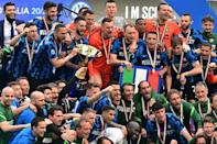 Inter Milan lifted the Serie A trophy for the 19th time and first since 2010