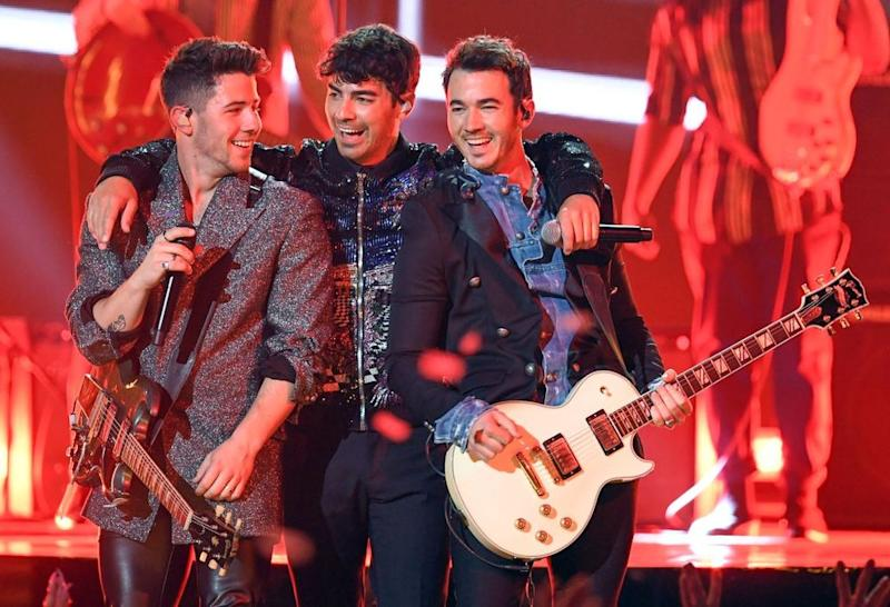 The Jonas Brothers perform at the 2019 Billboard Music Awards.