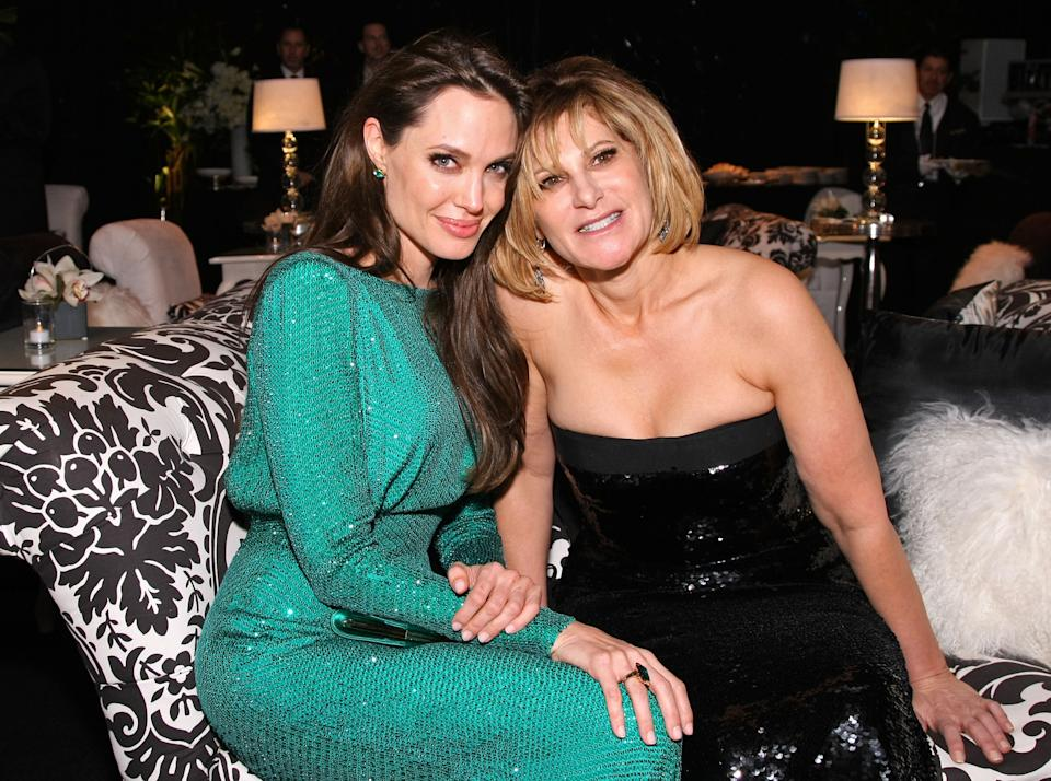 BEVERLY HILLS, CA - JANUARY 16:  Actress Angelina Jolie and Sony Pictures Entertainment Co-Chairman Amy Pascal attend the Sony Pictures Classic 68th Annual Golden Globe Awards Party held at The Beverly Hilton hotel on January 16, 2011 in Beverly Hills, California.  (Photo by Neilson Barnard/Getty Images)
