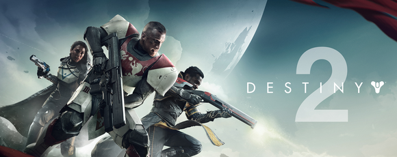 Three characters from Activision Blizzard's Destiny 2 holding guns.