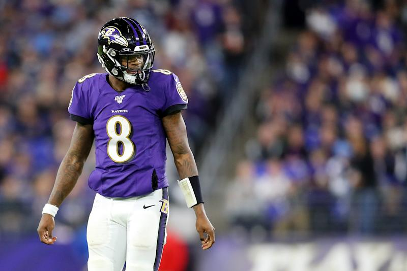 Ravens quarterback Lamar Jackson filed a lawsuit against Amazon on Wednesday after he said the company is selling unlicensed merchandise using his trademarks.