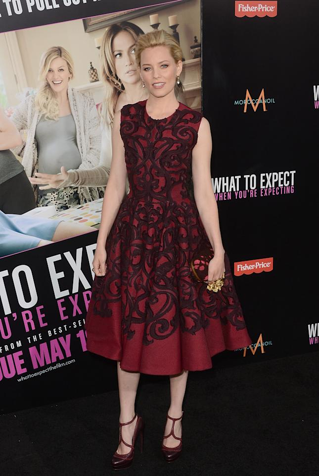 HOLLYWOOD, CA - MAY 14:  Actress Elizabeth Banks arrives at the premiere of Lionsgate's 'What To Expect When You're Expecting' held at Grauman's Chinese Theatre on May 14, 2012 in Hollywood, California.  (Photo by Jason Merritt/Getty Images)