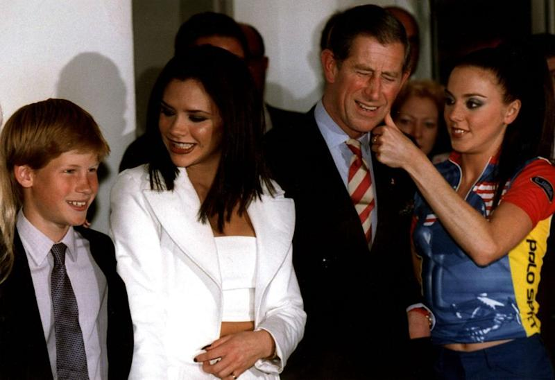 Prince Harry and his father, Prince Charles, attended the Spice Girls' film premiere together back in 1997. Photo: Getty Images