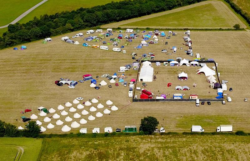 A woman had a heart attack at the Swingfields Festival in Malvern, Worcestershire (Picture: SWNS)