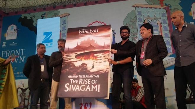 Rajamouli at The Rise of Sivagami book launch