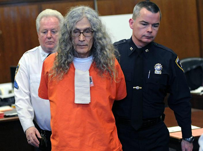 """In this Jan. 7, 2013, file photo, convicted serial killer Rodney James Alcala appears in court in New York. Alcala, a prolific serial torture-slayer dubbed """"The Dating Game Killer,"""" died while awaiting execution in California."""