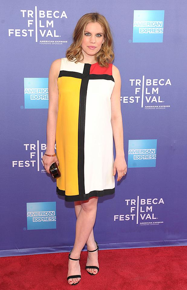 """Anna Chlumsky attends HBO's """"The Battle of amfAR"""" premiere at Tribeca Film Festival on April 24, 2013 in New York City."""