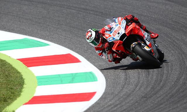 Motorcycling - MotoGP - Italian Grand Prix - Mugello Circuit, Scarperia, Italy - June 3, 2018 Ducati's Jorge Lorenzo during the race REUTERS/Alessandro Bianchi