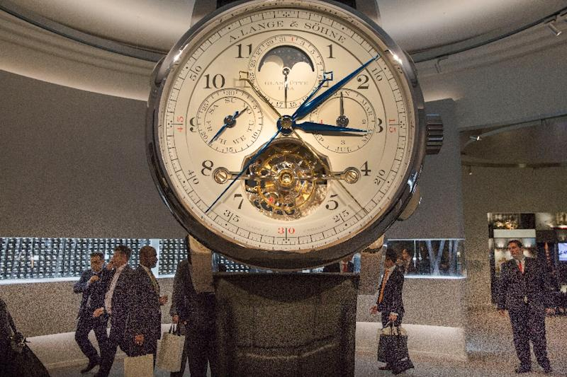 Swiss watchmakers hope that they have finally seen the end of the sector's crisis (AFP Photo/OLIVIER VOGELSANG)