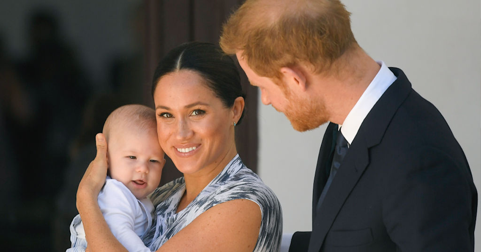 Harry, Meghan and Archie.