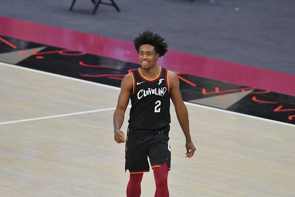 Collin Sexton scored 20 straight points in overtime to help his Cavaliers defeat a Nets super-team. (Jason Miller/Getty Images)