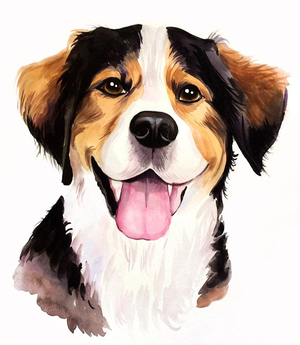 """<p><strong>WatercolorHappyPet</strong></p><p>etsy.com</p><p><strong>$45.00</strong></p><p><a href=""""https://www.etsy.com/listing/577260679/custom-pet-portrait-pet-portrait"""" rel=""""nofollow noopener"""" target=""""_blank"""" data-ylk=""""slk:Shop Now"""" class=""""link rapid-noclick-resp"""">Shop Now</a></p><p>Just supply a photo and this gifted Etsy artist will create a personalized watercolor painting of your pet, whether you have a dog, cat, hamster, iguana, or parrot (really). </p>"""
