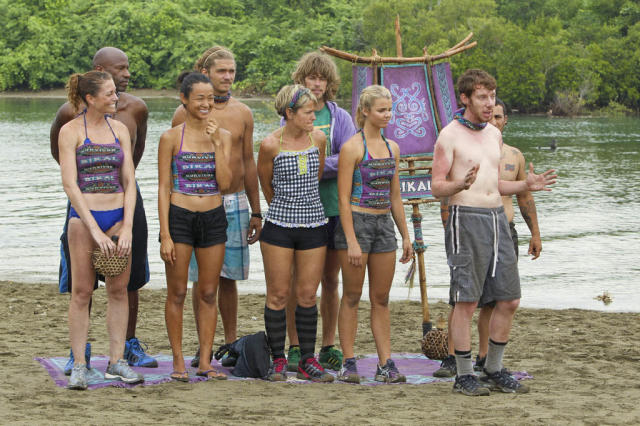 """Kill or be Killed"" - The Bikal Tribe gets ready for the reward challenge during the fourth episode of ""Survivor: Caramoan - Fans vs. Favorites."""
