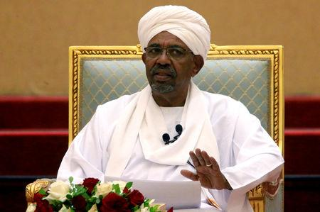 FILE PHOTO: Sudanese President Omar al-Bashir addresses a meeting at the Presidential Palace in Khartoum