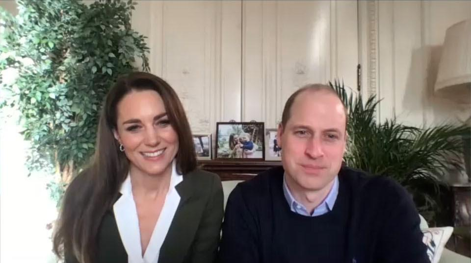 The Cambridges have not yet had their vaccines but William has said he will when it's his turn. (Kensington Palace)