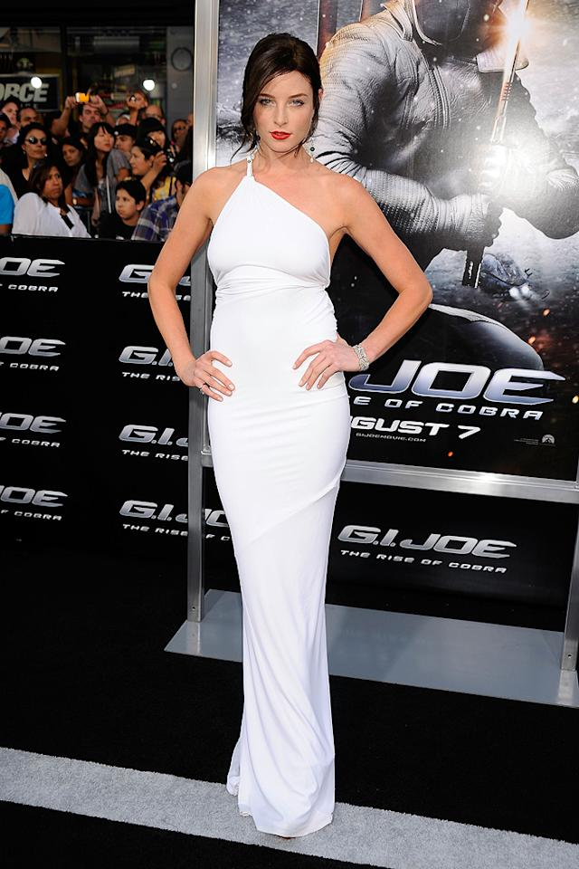 """<a href=""""http://movies.yahoo.com/movie/contributor/1807799855"""">Rachel Nichols</a> at the Los Angeles premiere of <a href=""""http://movies.yahoo.com/movie/1809993532/info"""">G.I. Joe: The Rise of Cobra</a> - 08/06/2009"""