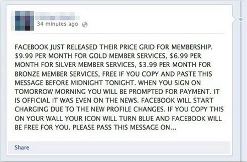 Warning: Facebook Scam Tricks Users to Share -- or Pay