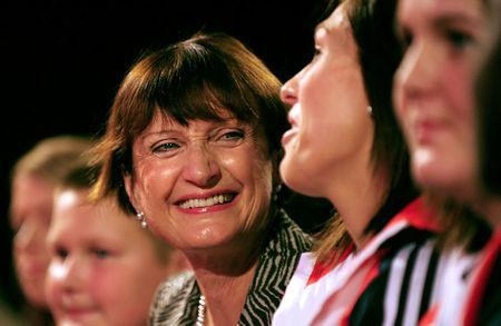 FILE PHOTO: Britain's Olympic Minister Tessa Jowell speaks during the annual Labour Party Conference in Brighton, in south England September 28, 2009. REUTERS/Toby Melville/File Photo