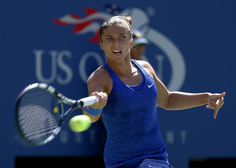 No. 1 US Open women's doubles duo out in 2nd round
