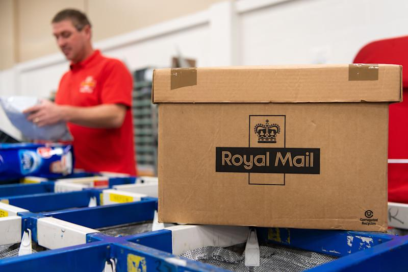 Royal Mail workers at work in a Royal Mail sorting office on February, 2 2019 in Cardiff, United Kingdom.(Photo by Matthew Horwood)
