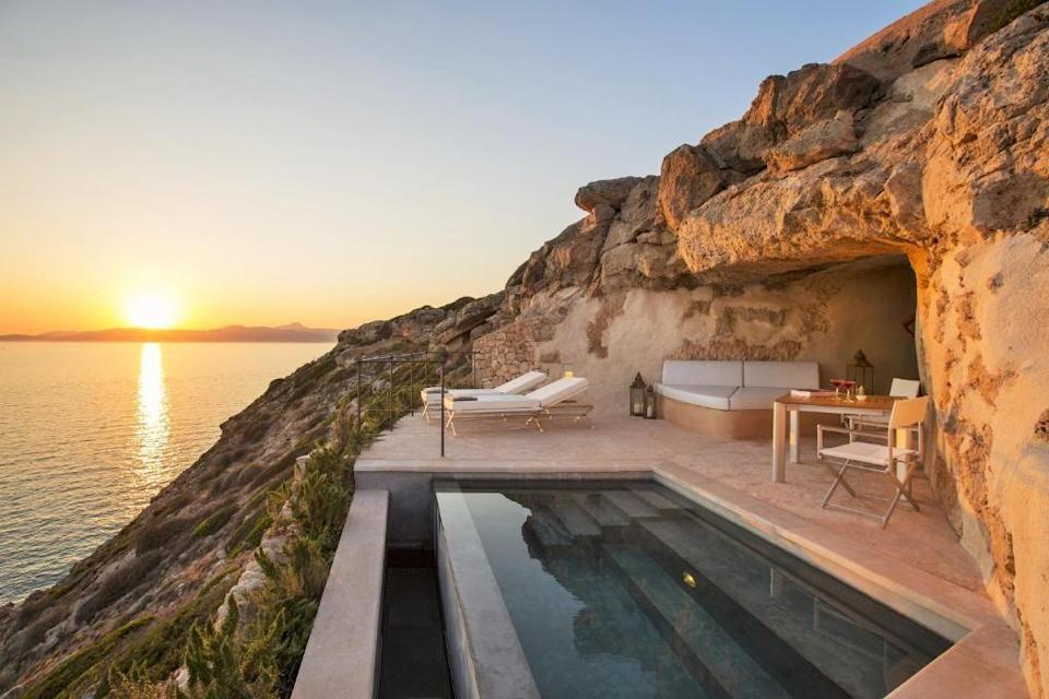 """<p>There's a reason the Balearics never go out of fashion. The Spanish sunshine, charming fincas and superstar beaches, you'll find everything you need here for a chic <a href=""""https://www.redonline.co.uk/travel/inspiration/g26984397/best-beach-holidays-in-europe/"""" rel=""""nofollow noopener"""" target=""""_blank"""" data-ylk=""""slk:beach holiday in Europe"""" class=""""link rapid-noclick-resp"""">beach holiday in Europe</a> and if these don't convince you, our roundup of the best hotels in Mallorca will leave you searching for the next available flight.</p><p>With the children back to school and Mallorcan temperatures averaging <a href=""""https://www.metoffice.gov.uk/weather/travel/holiday-weather/europe/spain/majorca"""" rel=""""nofollow noopener"""" target=""""_blank"""" data-ylk=""""slk:27C in September and 24C in October"""" class=""""link rapid-noclick-resp"""">27C in September and 24C in October</a>, an autumn island escape to the Balearics could be the answer to a little R&R before the Christmas madness begins.</p><p>The largest of the islands and only a two-hour flight from the UK, Mallorca is characterised by turquoise waters, soft sand beaches, rugged mountains and picturesque villages - not forgetting its chic capital city Palma. </p><p>This Mediterranean gem has star appeal too, attracting the likes of Grace Kelly, the Spanish royals, Gwyneth Paltrow and Rafael Nadal, who have soaked up its beauty and glamour over the years. </p><p>Generously sprinkled with luxury hotels, from adults-only retreats to family-friendly idylls, Mallorca is a fantastic destination for relaxing on the beach or in the countryside close to home.</p><p>To help you plan your perfect holiday on the Spanish isle, we've rounded up the very best hotels in Mallorca to book in 2021 (or early for summer 2022). Red's selection includes traditional fincas turned five-star sanctuaries, boutique hideaways with only a handful of rooms and elegant city-centre addresses with amazing rooftop views.</p><p>Check out the best hotels in Mallorca, whe"""