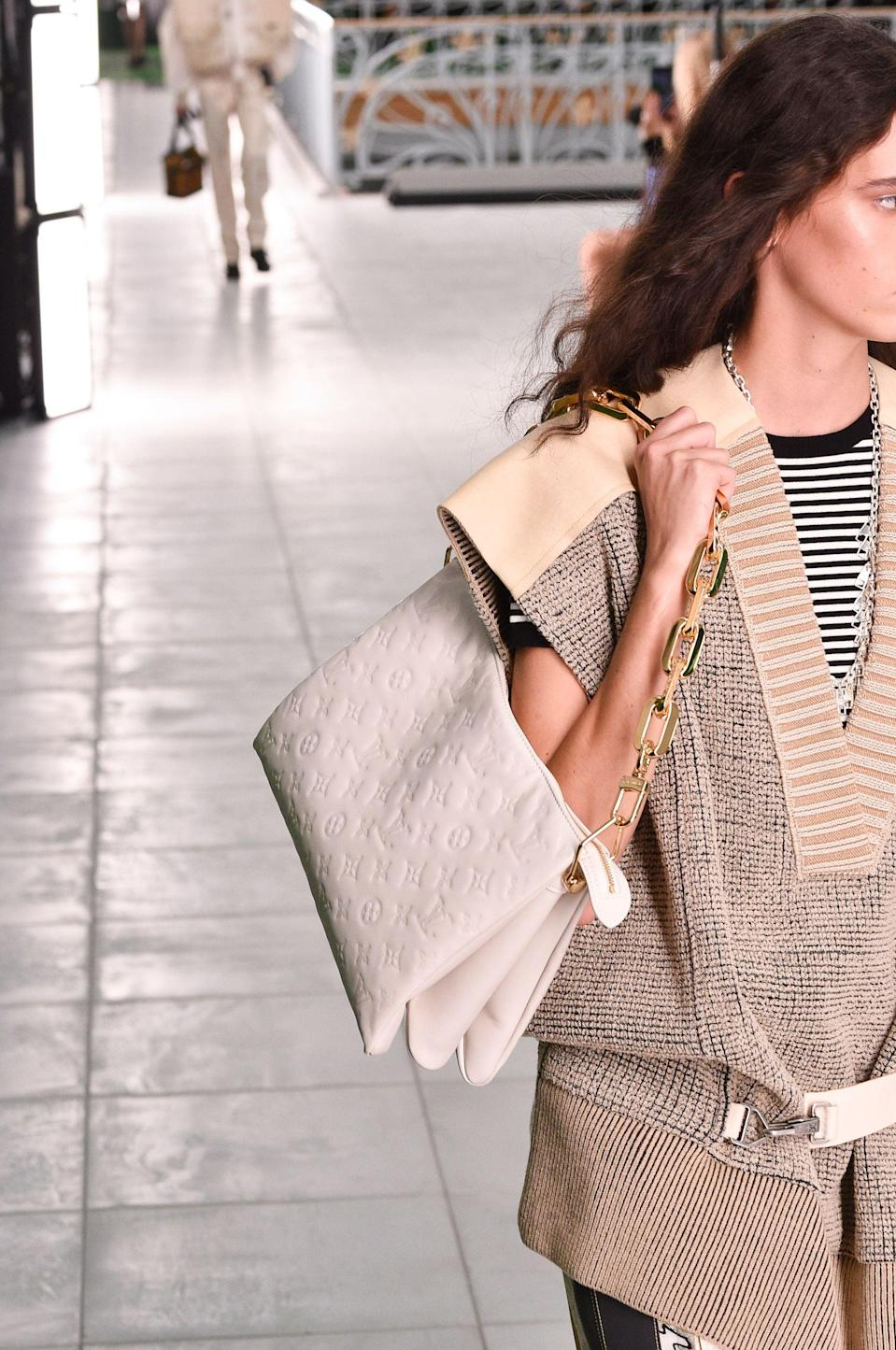 <p>A bag from the Louis Vuitton Spring / Summer 2021 runway.</p>