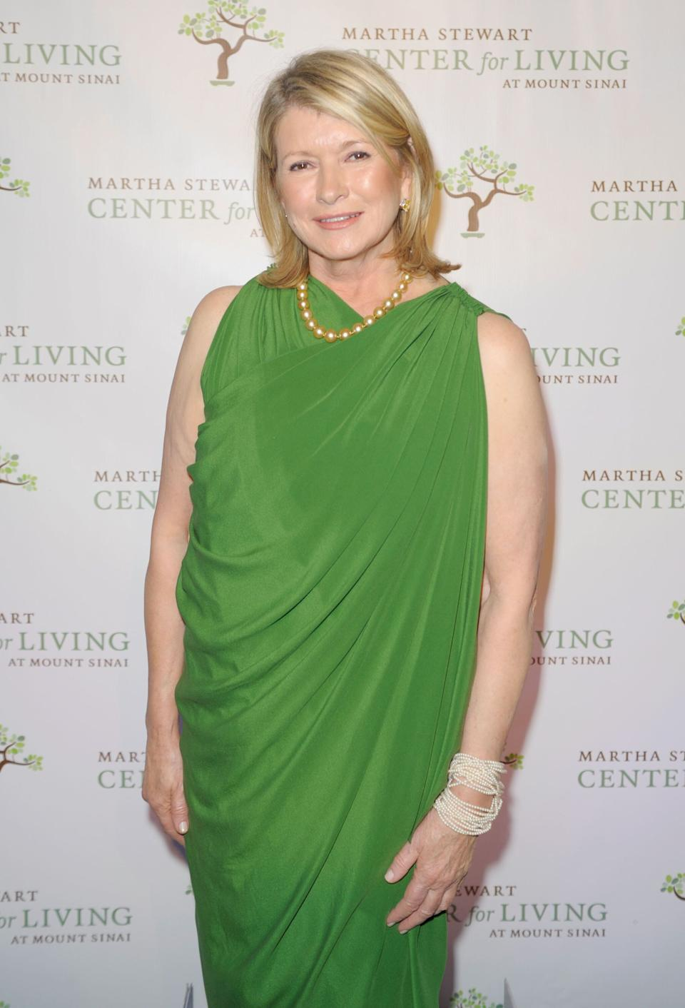 Stewart at the fourth annual Martha Stewart Center for Living at Mount Sinai Gala in New York City on Nov. 16, 2011.
