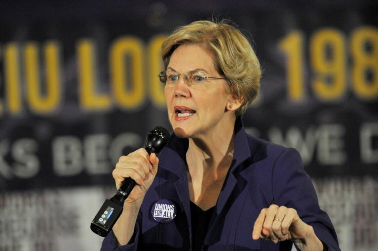 Democratic presidential candidate Elizabeth Warren has taken aim at billionaires in a new campaign ad (AFP Photo/Joseph Prezioso)