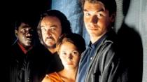Sliders originally aired on Fox for three seasons before it was cancelled and renewed for two more by the Sci-Fi Channel. By season five, and with limited time and funding, Jerry O'Connell and his brother Charlie were out and newcomers Robert Floyd and Tembi Lock were brought in. The season fizzled out in 2000 with Rembrandt sliding back to Earth Prime after injecting himself with a virus to kill the Kromaggs. The Seer had said they would die if they slide one more time so it was unclear if he succeeded or not as there were no more episodes to come.