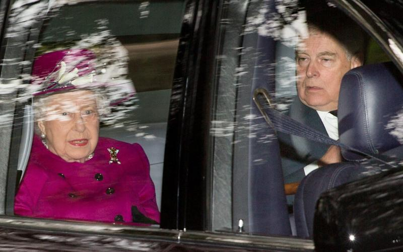 The Queen, pictured with the Duke of York in September, is understood to have ordered her second-born son to stand aside - PA