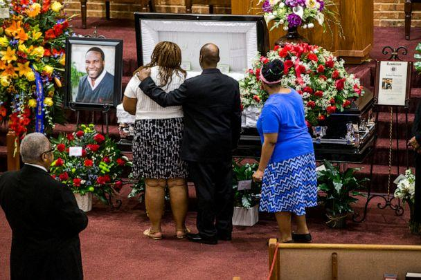 PHOTO: Mourners attend a public viewing before the funeral of Botham Shem Jean at the Greenville Avenue Church of Christ in Richardson, Texas, Sept. 13, 2018. (Shaban Athuman/The Dallas Morning News via AP, File)