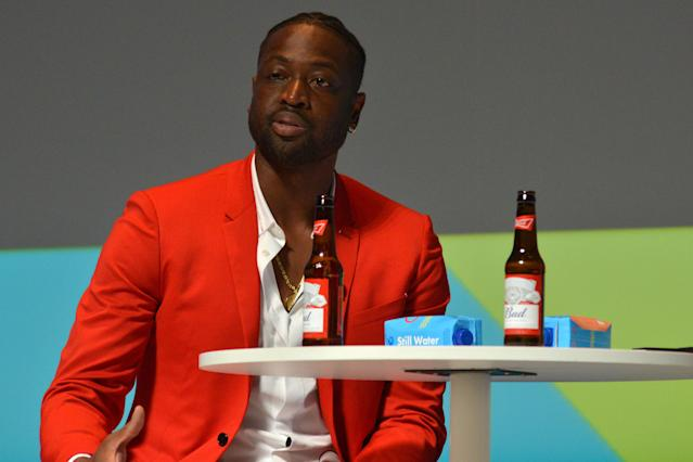 """<a class=""""link rapid-noclick-resp"""" href=""""/nba/players/3708/"""" data-ylk=""""slk:Dwyane Wade"""">Dwyane Wade</a> opened up about supporting his son Zion, who attended Miami Pride. (Photo by Christian Alminana/Getty Images For Cannes Lions)"""