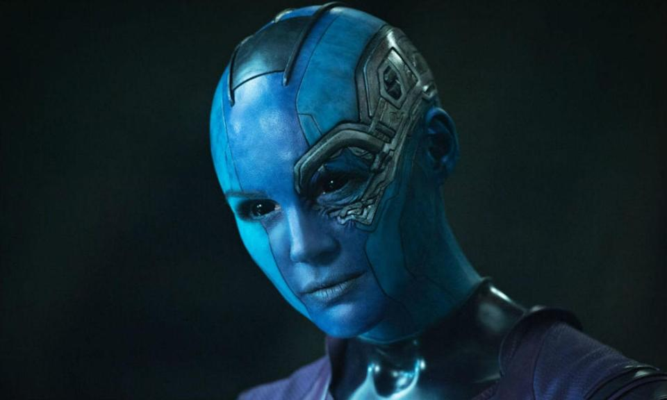 <p><span><strong>Played by:</strong> Karen Gillan</span><br><span><strong>Last appearance:</strong> </span><i><span>Guardians of the Galaxy Vol. 2</span></i><br><span><strong>What's she up to?</strong> Having made up with her sister Gamora, Nebula is on a mission to kill her father Thanos and leaves the Guardians to do so.</span> </p>