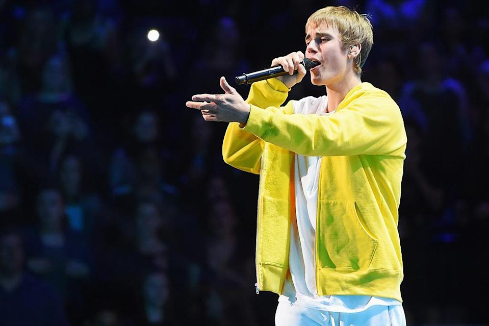 """<p>The song has sold 1,805,000 copies in 2016 (on top of 916K copies it sold in 2015, when it ranked No. 69 for the year). Surprisingly, this marks the first time that a Bieber song has ranked among the year's top 10 hits. His previous highest-ranking song on a year-end Digital Songs chart was """"Boyfriend,"""" which ranked No. 15 for 2012. """"Love Yourself"""" was nominated for a Grammy for Song of the Year. (Photo by Nicholas Hunt/Getty Images for iHeart) </p>"""
