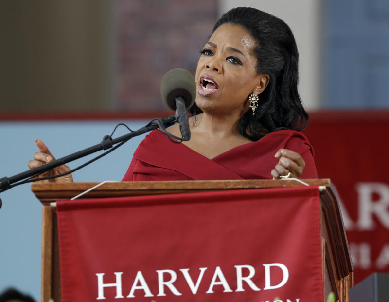 Winfrey to Harvard grads: Learn from your failures