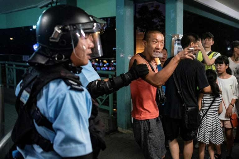 Renewed clashes broke out in Hong Kong between police and protesters