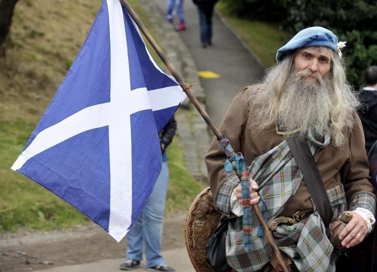 Stereotypes about Scotland are legion, although few refer to the great artists, philosophers and scientists the nation has produced over the centuries of its proud history (AFP Photo/Andy Buchanan)