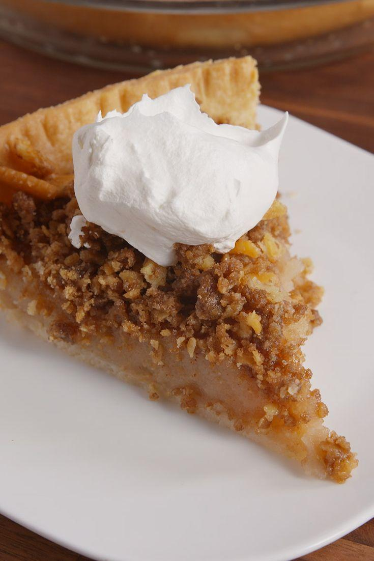 """<p>Apple pie without any apples? Sorcery.</p><p>Get the recipe from <a href=""""https://www.delish.com/cooking/recipe-ideas/recipes/a50260/ritz-mock-apple-pie-recipe/"""" rel=""""nofollow noopener"""" target=""""_blank"""" data-ylk=""""slk:Delish"""" class=""""link rapid-noclick-resp"""">Delish</a>.</p>"""