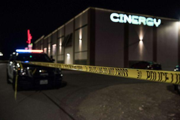 PHOTO: Police cars and tape block off a crime scene outside the Cinergy Odessa movie theater where a gunman was shot and killed, Aug. 31, 2019 in Odessa, Texas. (Cengiz Yar/Getty Images)