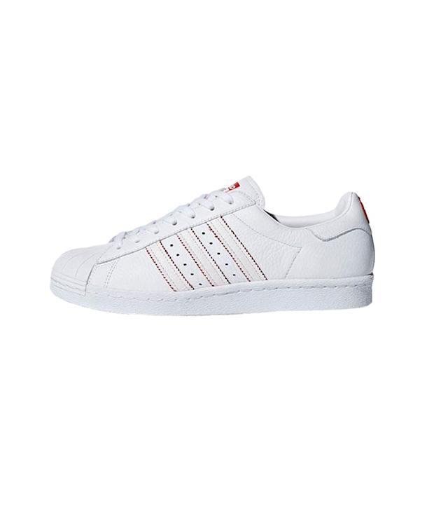 "<p>Superstar '80s CNY shoes, $110, <a href=""https://www.adidas.com/us/superstar-80s-cny-shoes/DB2569.html"" rel=""nofollow noopener"" target=""_blank"" data-ylk=""slk:adidas.com"" class=""link rapid-noclick-resp"">adidas.com</a> </p>"