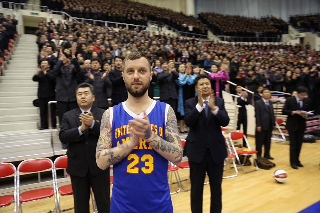 "Ryan Duffy in the ""VICE"" episode, ""The Hermit Kingdom: Basketball Diplomacy."""