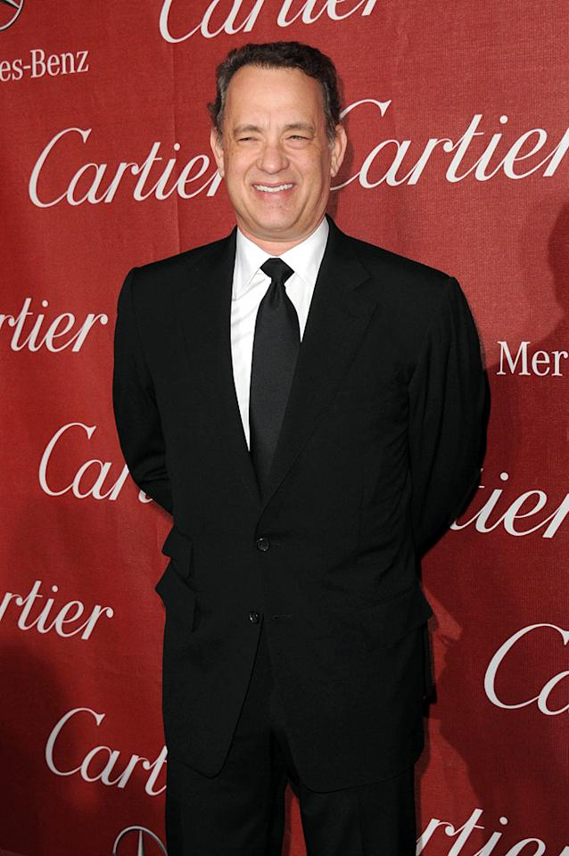 """<a href=""""http://movies.yahoo.com/movie/contributor/1800010392"""">Tom Hanks</a> attends the 23rd Annual Palm Springs Film Festival awards gala on January 7,2012."""