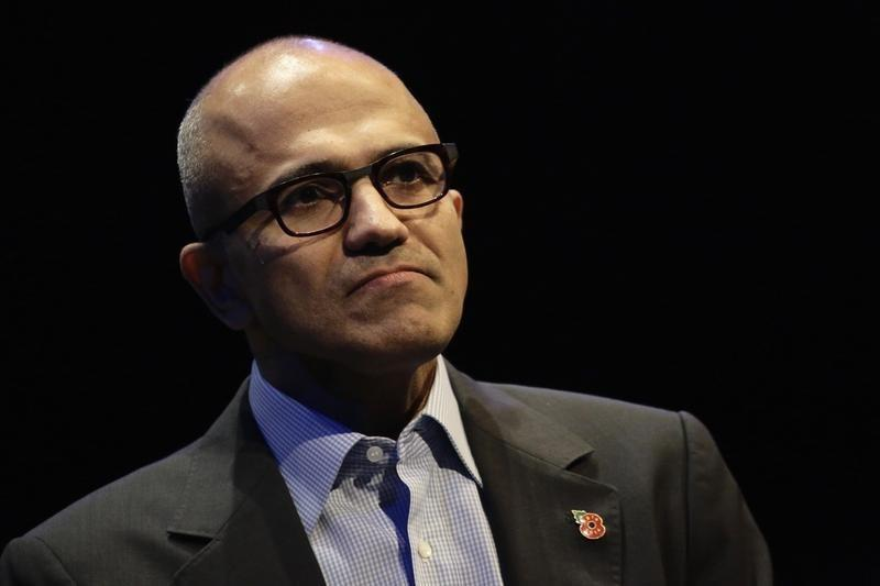 Microsoft CEO Nadella speaks at the Future Decoded conference in London